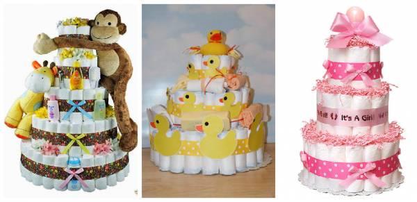 Подарки из памперсов для малышей и их родителей