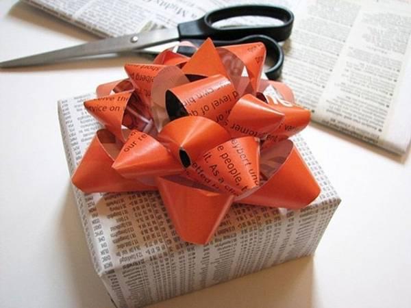Делаем бантик на подарок из ленты 76