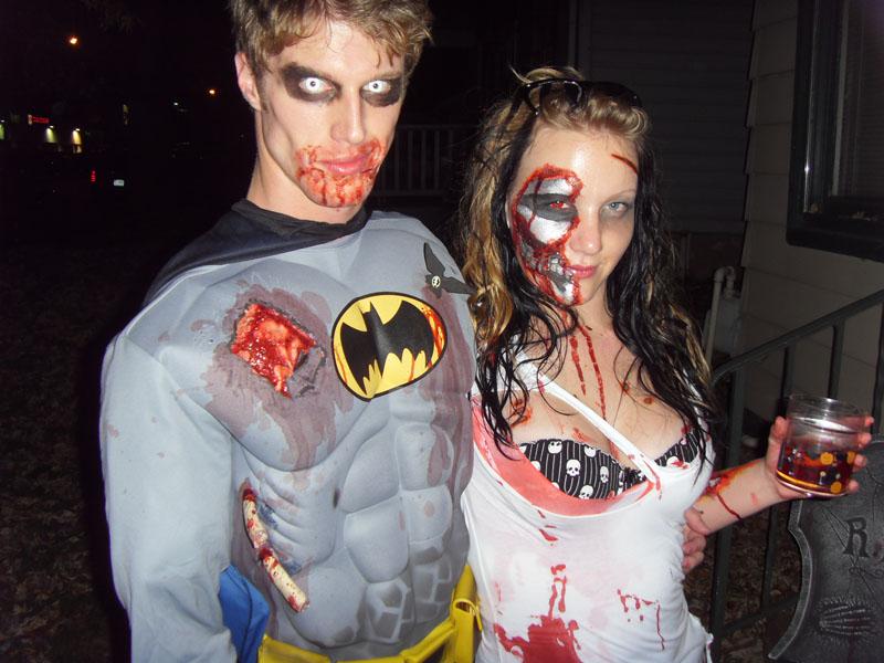 Костюм на хэллоуин зомби макияж