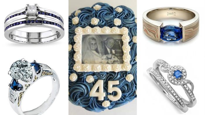 Какие подарки дарят на сапфировую свадьбу 32