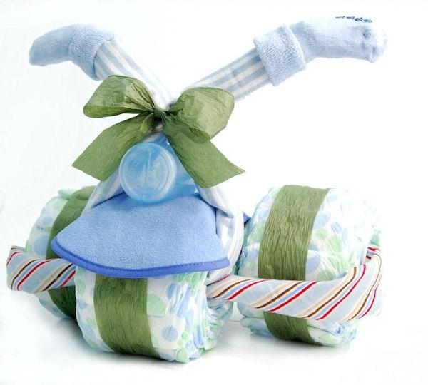 Как красиво упаковать памперсы в подарок