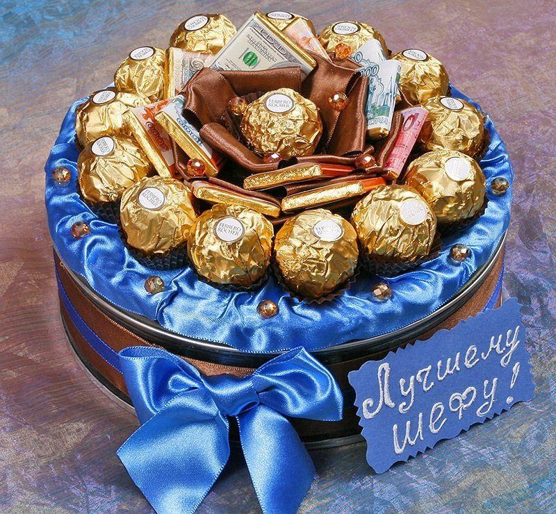 Букеты из конфет для мужчины на день рождения